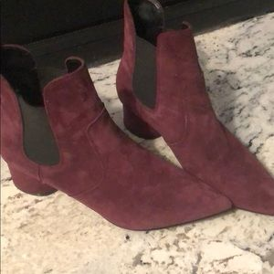Maroon Kendall and Kylie booties